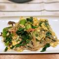 菜花とカニカマと卵の塩チャプチェ(モランボン韓の食菜塩チャプチェ)
