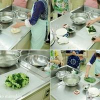 お料理教室の写真を撮りました。