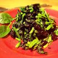 韓国海苔とほうれん草のサラダ
