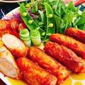 ソーセージの肉巻きケチャップ(動画レシピ)/Sausage meat roll with ketchup.