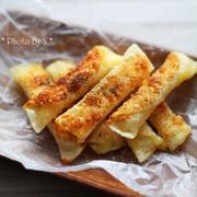 外はパリッ、中はとろ~り!「餃子の皮」で「チーズ」を巻いたおつまみがすごい!