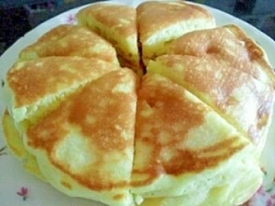 フライパンで簡単☆我が家の定番ホットケーキ