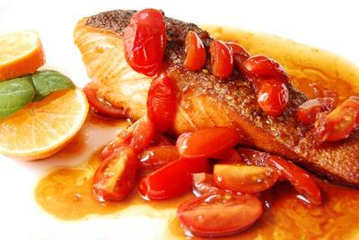 鮭のソテーみかんソース