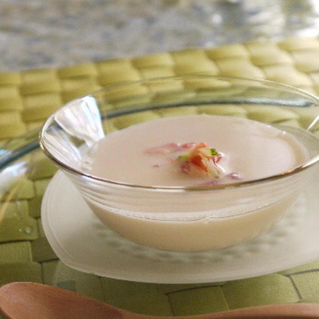 冷たいスープ☆とにかく簡単!!食べるラー油じゃなくて 飲むソース☆