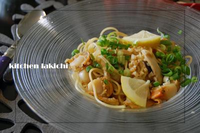 ホタテとエリンギの醤油麹レモンバターパスタ【レシピ】