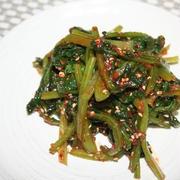 小松菜コチュジャン酢ナムル。-ー 料理教室の『サモ』の人気おかず