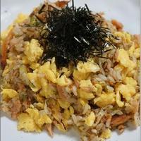 鮭と卵の和風チャーハン <レシピ>