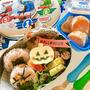 息子の幼稚園弁当 照り焼きチキン ジャックオランタン