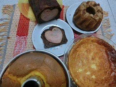 ミニクグロフ★かぼちゃのシフォン★ショコラハート★チーズケーキ!!