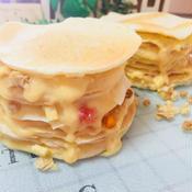 カスタードクリームでミルパンケーキ