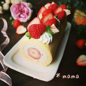 春を先取り!ふんわりキュートな「いちごロールケーキ」