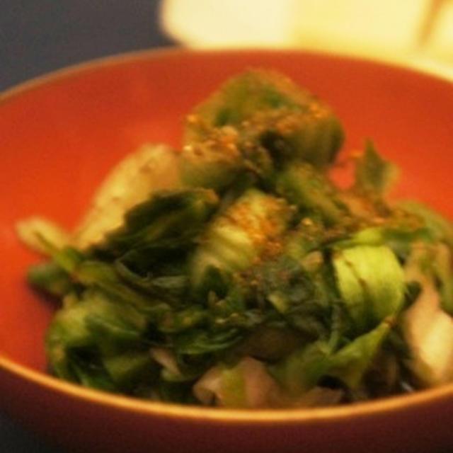 レタスのお浸し、筍と三陸若芽の山葵酢味噌、メヒカリ塩焼きで、祝い膳