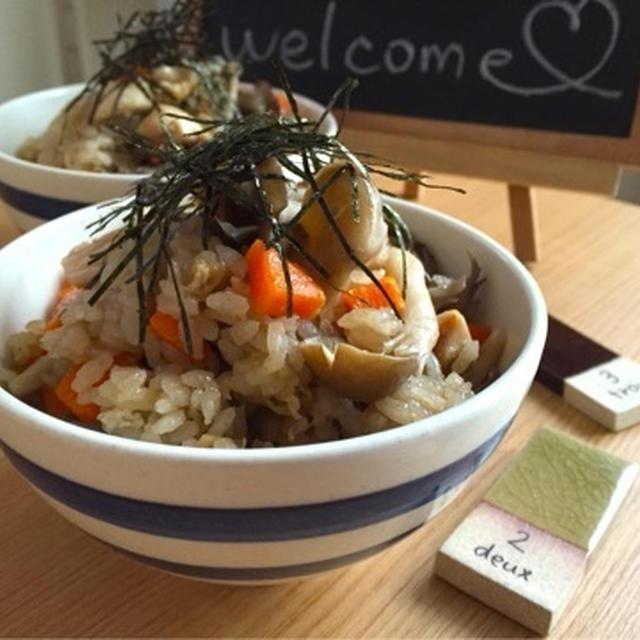 【定番】【簡単】鶏ときのこの炊き込みご飯