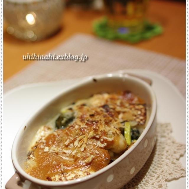 牡蠣とネギのガーリック味噌マヨ焼き