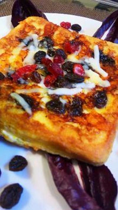 チーズとドライフフルーツのフレンチトースト
