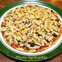 ハムとチーズのピザのレシピ