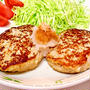 鶏がら塩糀スープの素で♪ 豆腐ハンバーグ&鶏だんご汁