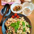 お醤油漬けベーコンと三つ葉の炒飯 ~ 三つ葉が香り、醤油が香ばしい♬ by mayumiたんさん