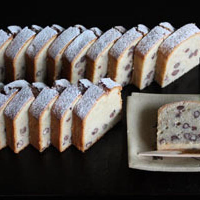 小豆入り・そば粉のケーキ レシピ。