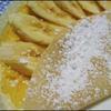 バナナカスタードクリームクレープ