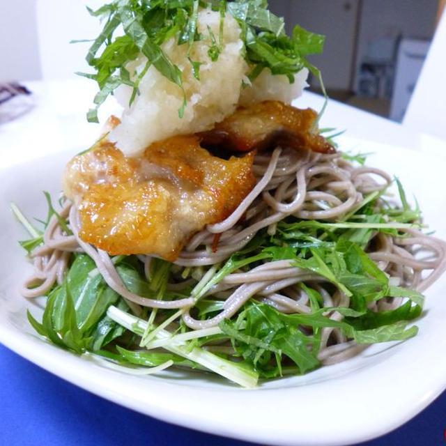【肉×麺 アレンジ麺】カリカリ鶏肉のっけ さっぱりおろしサラダそば
