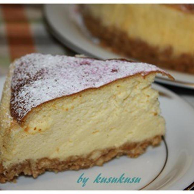 ホイップクリーム使用で簡単チーズケーキ