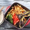 とり天と野菜の甘酢ニンニク漬け / 文旦フレンチトースト