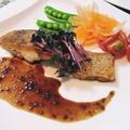 白身魚のポワレバルサミコソース
