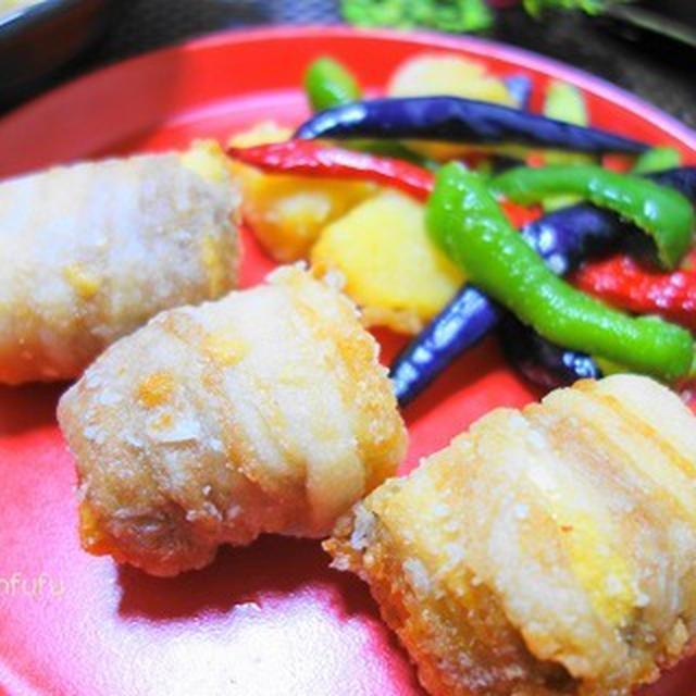 冷凍豆腐の肉巻き唐揚げ♪驚きの弾力で鶏肉みたい♪