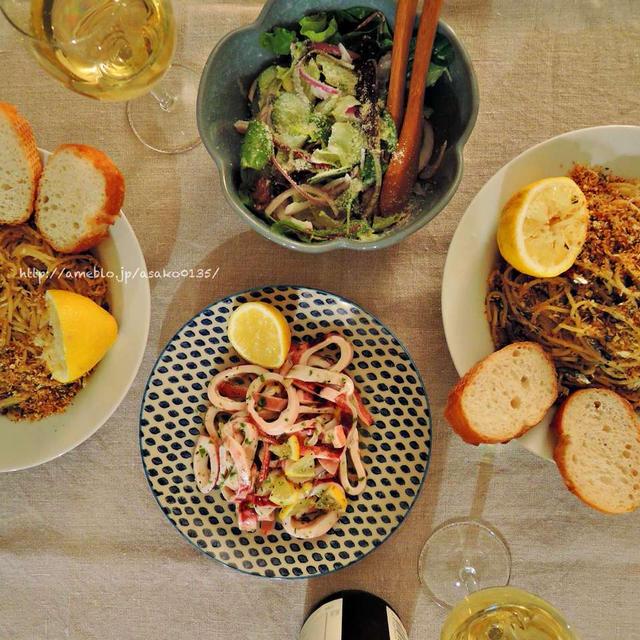 シチリア風煮干しのパスタ。