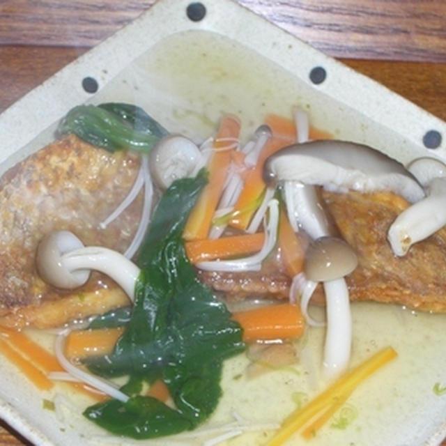 鯛のから揚げ野菜あんかけ