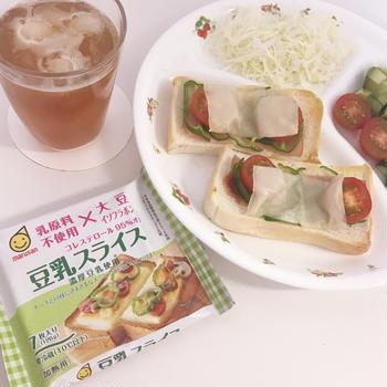 豆乳チーズタイプ♪【マルサン「豆乳スライス」】
