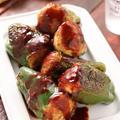 種もわたもまるごと!ピーマンの肉詰め【#作り置き #冷凍保存 #お弁当 #フードロス #もったいない #ピーマン嫌いさんにおすすめ #主菜】