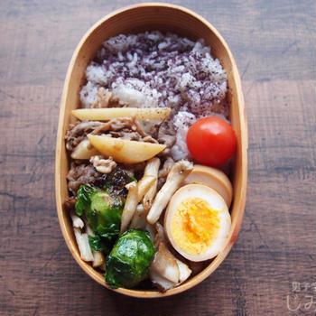 【地味弁】じゃがいもと牛肉のピリ辛炒め弁当と、何気に便利な楽天レシピ