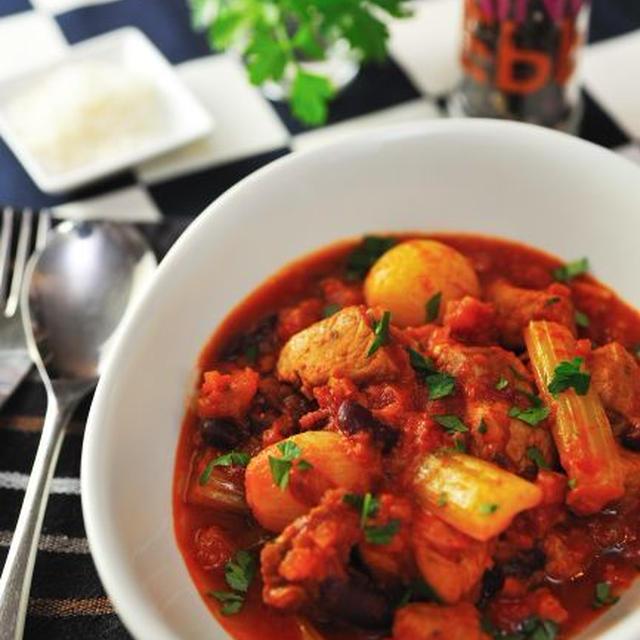ローマ風 豚肉のトマト煮込み