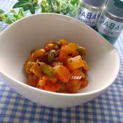 福豆のバジルトマト煮