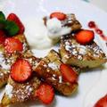 苺のプリントースト☆簡単で果物の香りが楽しめます