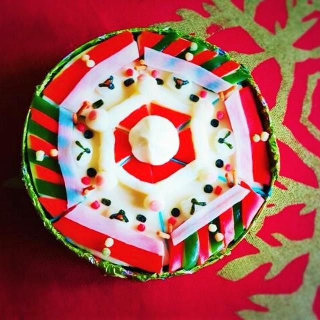 クリスマス☆コリラックマのサンタ&雪だるまの6ピースチーズ&クリスマスデコ
