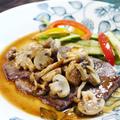 牛肉のソテー きのこたっぷり柚子胡椒ソース by Yoshikoさん
