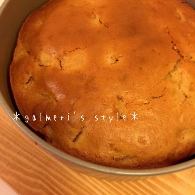 混ぜて焼くだけ簡単♪ホットケーキミックスでリンゴのケーキ