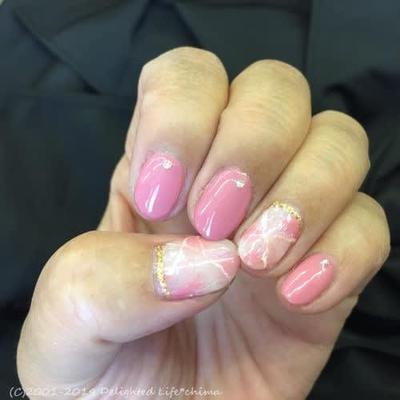 春色ピンク♡ジェルネイル