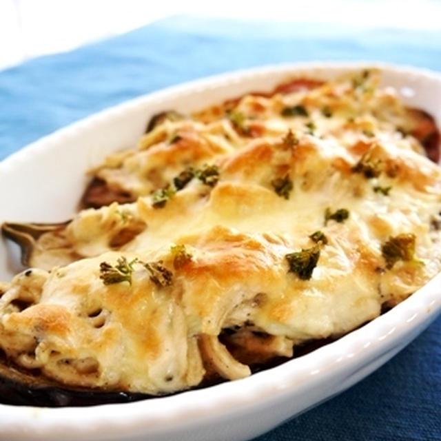蒸し鶏のチーズ焼きナスと晩ごはん~笑いのツボ