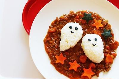 かぼちゃとひき肉のカレー ハロウィンバージョン❤