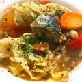 帰りが遅い日の晩御飯におすすめ!サバとトマトのスープ