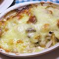 牡蠣と帆立と長芋の生クリームグラタン
