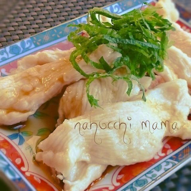 安い早いハマる食感❤つるるん茹で鶏