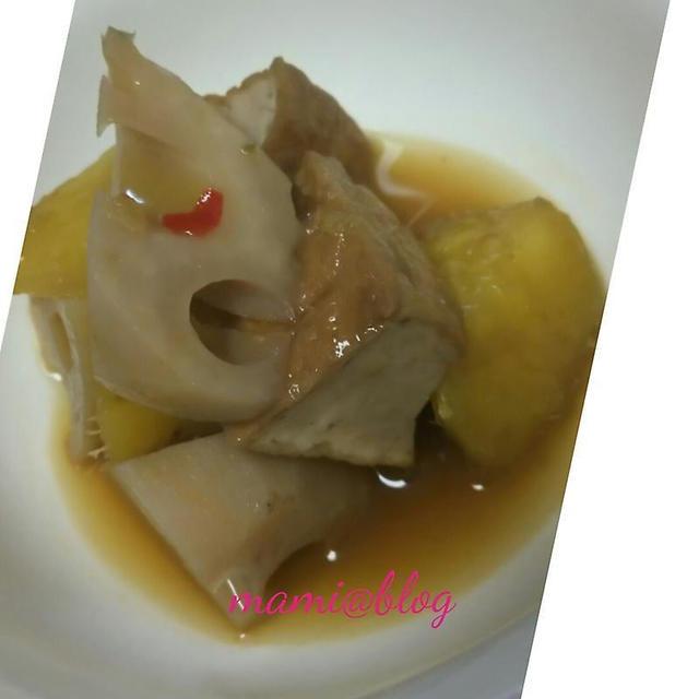 ☆レンコンとさつまいもと厚揚げのピリ辛煮☆
