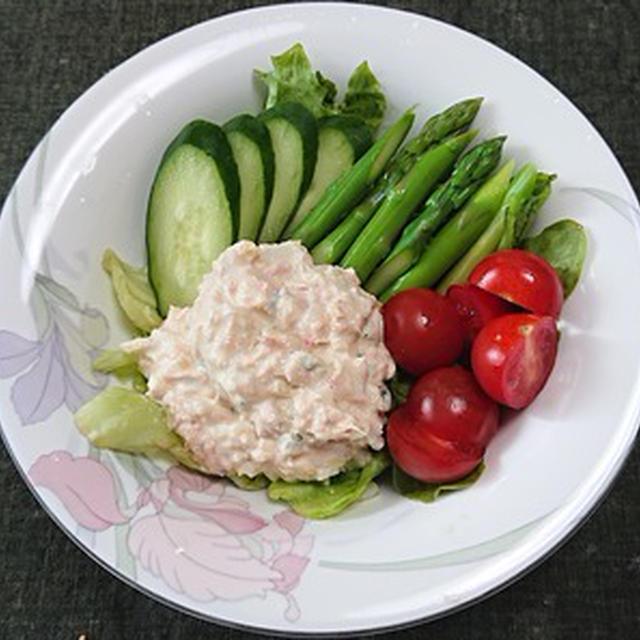 ツナマヨと野菜のサラダ