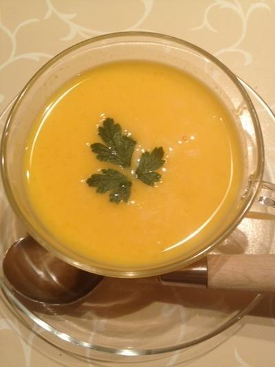 冷たい♥カボチャとトマトのポタージュスープ