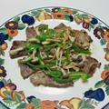 USポークで~豚肉ときのこのソテー♪&越後の笹だんご by ei-recipeさん
